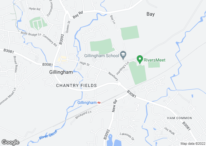 Map for Newbury,
