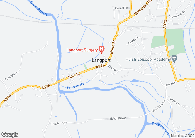Map for Langport Arms Hotel & Carvery, Cheapside, Langport, Somerset, TA10 9PD