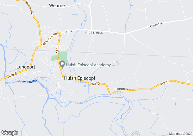 Map for Wagg Drove, HUISH EPISCOPI