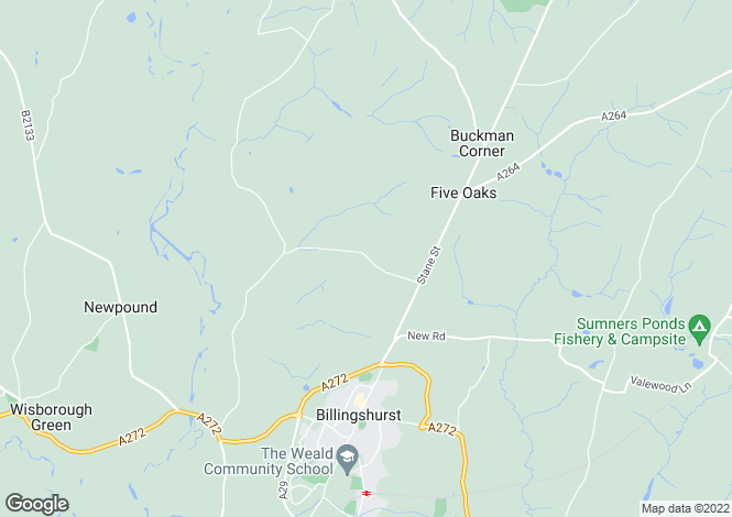 Map for Okehurst Lane, Billingshurst, West Sussex
