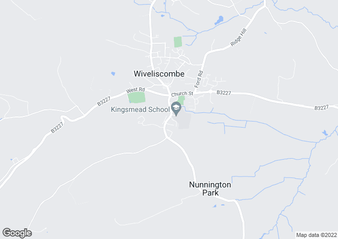 Map for Kingsmead Close , Wiveliscombe, TAUNTON