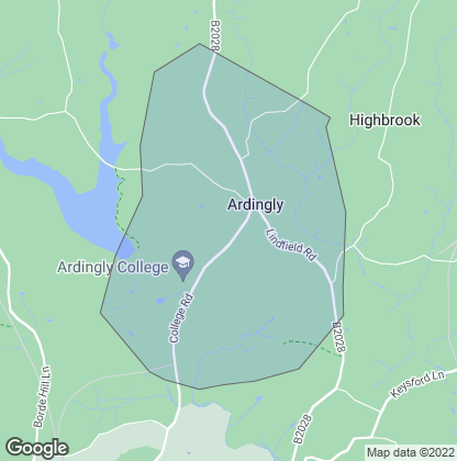Map of property in Ardingly