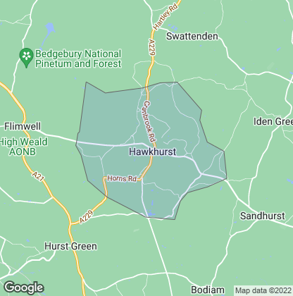 Map of property in Hawkhurst