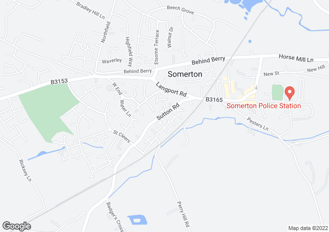 Map for Town Farm, Sutton Road, Somerton, Somerset