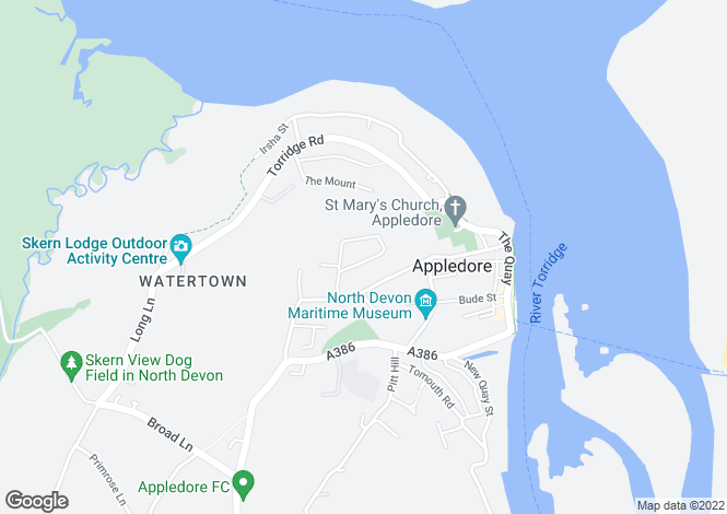 Map for Riversmeet, Appledore, BIDEFORD, Devon