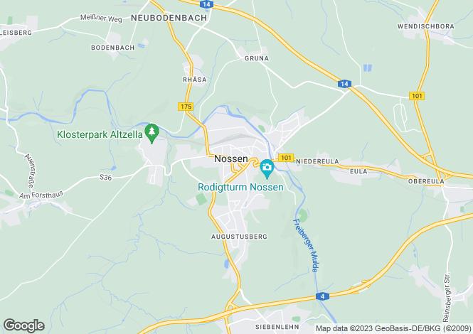 Map for Nossen, Saxony