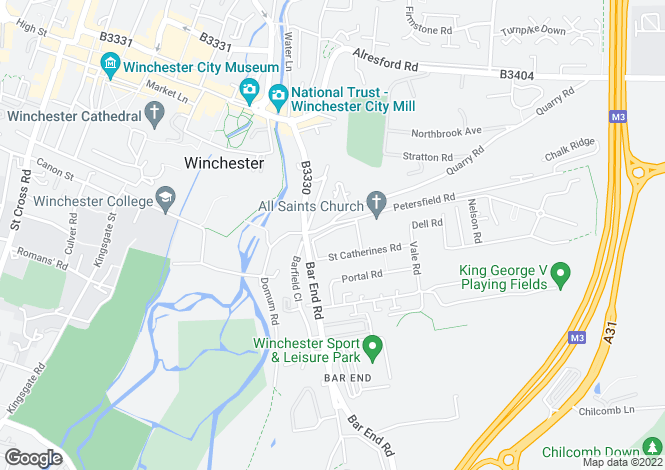 Map for Highcliffe Road, Winchester, SO23