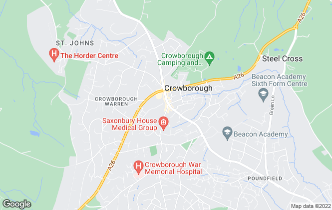 Map for Banfield Estate Agents, Crowborough