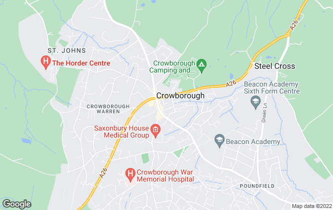 Map for Sussex Property Shop, Crowborough