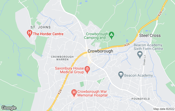Map for Banfield Residential Sales and Lettings, Crowborough