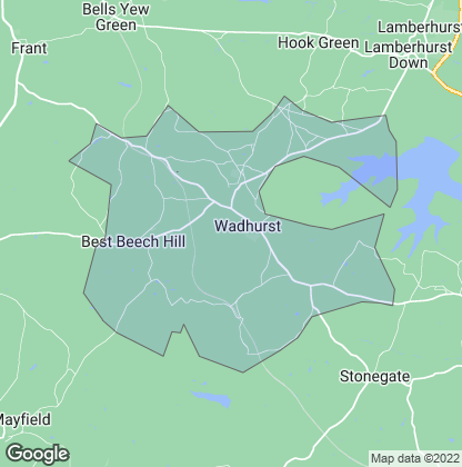 Map of property in Wadhurst