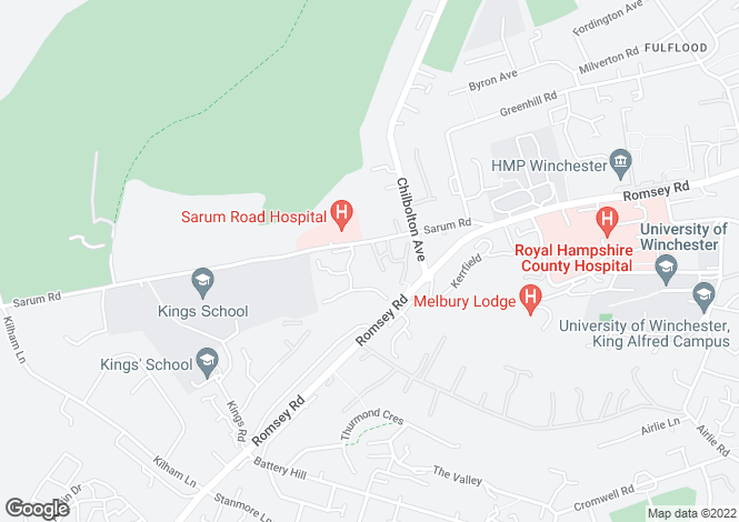 Map for BISHOPS COURT at Highcroft, Romsey Road,