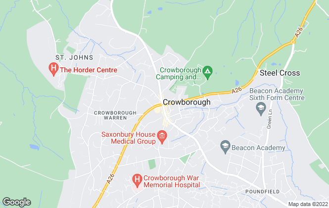 Map for Mansell McTaggart, Crowborough