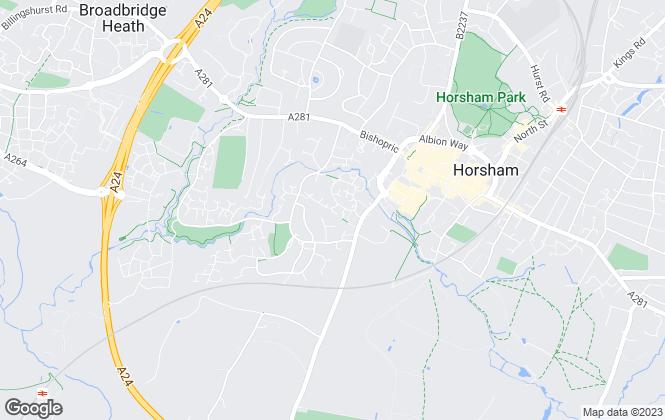 Map for Saxon Weald Homes Ltd, Horsham