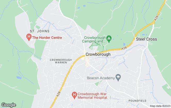 Map for Cubitt & West, Crowborough