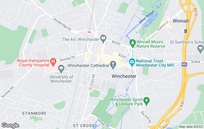 Map for Purdie & Swan Lettings, Winchester