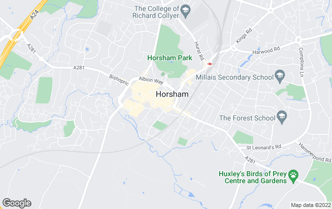 Map for Mapp & Co, Horsham