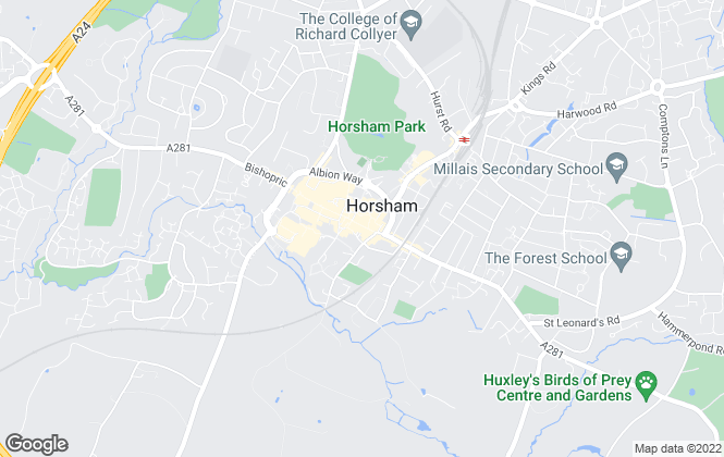 Map for easyProperty, Horsham