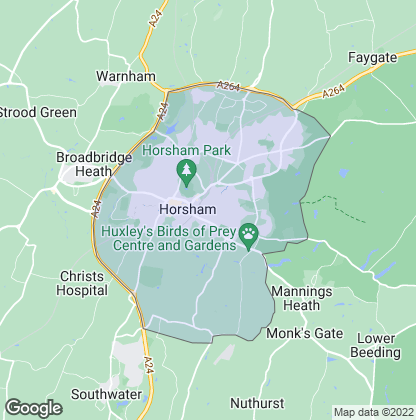 Map of property in Horsham