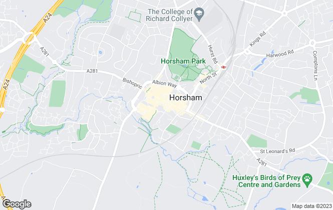 Map for Woodlands Estate Agents, Horsham - Lettings