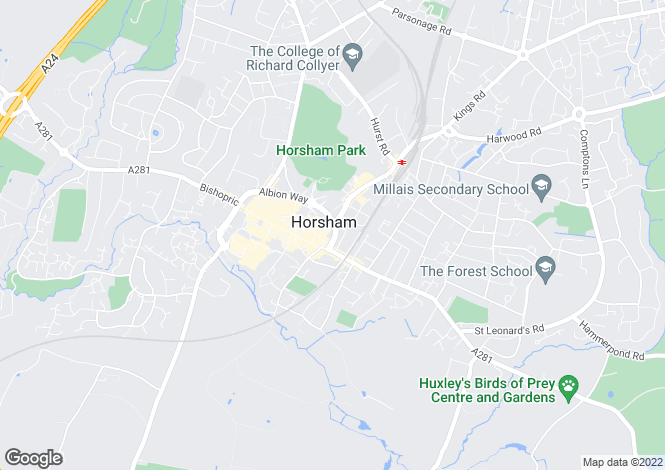 Map for Pines Ridge, Horsham, West Sussex, RH12