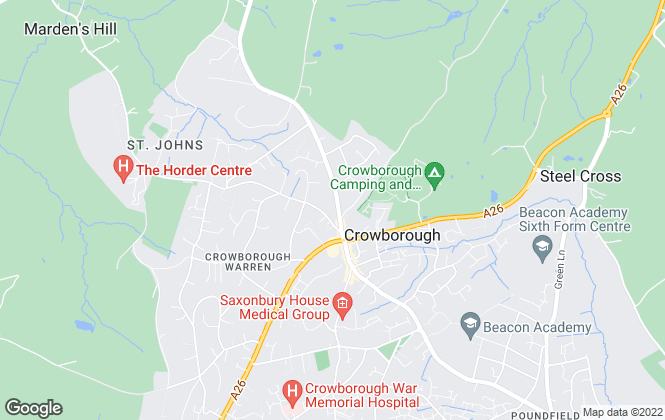 Map for Michael Brooker, Crowborough