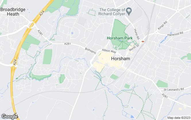 Map for Lines & James Ltd, HORSHAM
