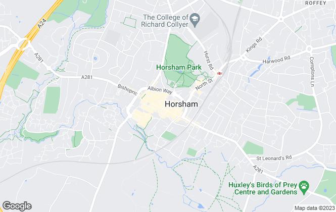 Map for Henry Adams, Horsham