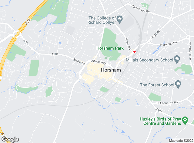 Map for Hamptons International Lettings, Horsham - Lettings