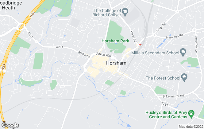 Map for Hamptons International Sales, Horsham