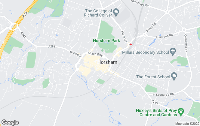 Map for Henry Adams, Horsham