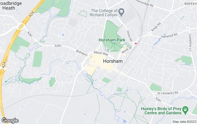 Map for Hamptons International Sales, Horsham