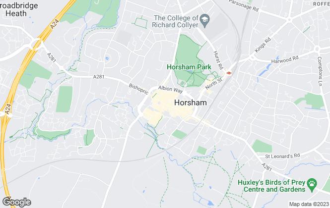 Map for Hamptons Sales, Horsham