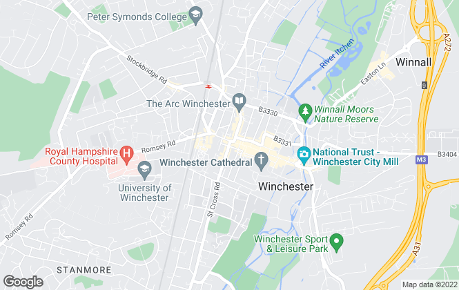 Map for Pearsons, Winchester