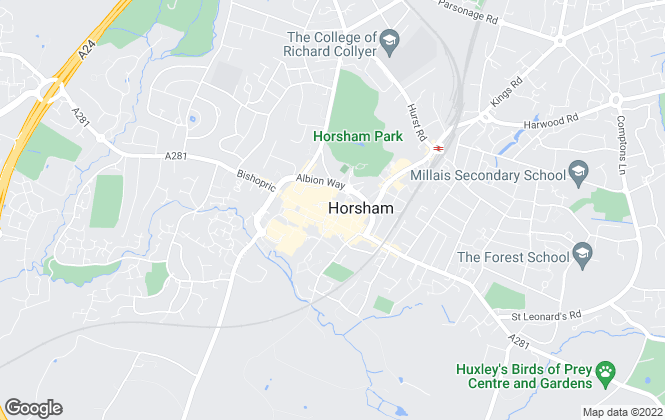 Map for Knight Frank, Horsham