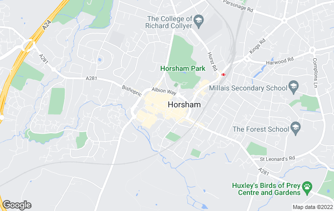 Map for Cubitt & West, Horsham