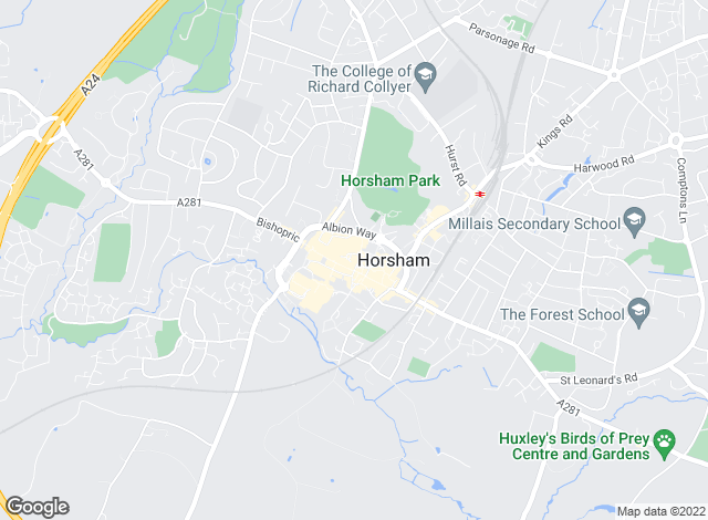 Map for Cubitt & West Residential Lettings, Horsham