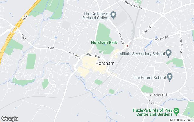Map for King & Chasemore Country Homes, Horsham