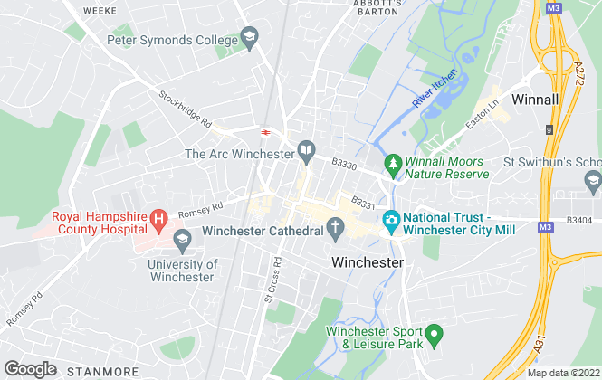 Map for Charters, Winchester
