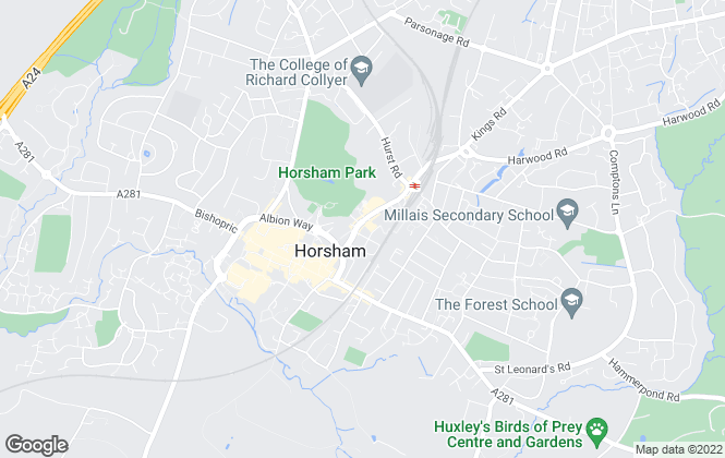 Map for Chesworths Estate Agents, Horsham