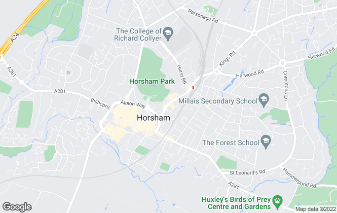 Map for The Pinnacle Letting Company, Horsham