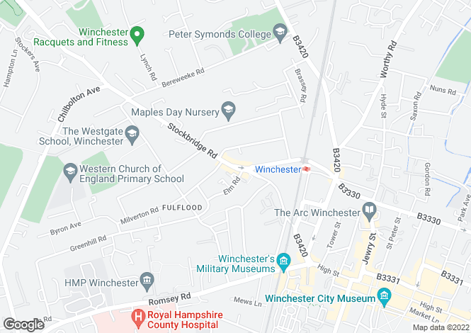 Map for Fulflood, Winchester, Hampshire