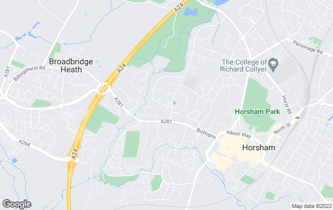 Map for At Home Estate and Lettings Agency, Horsham and District