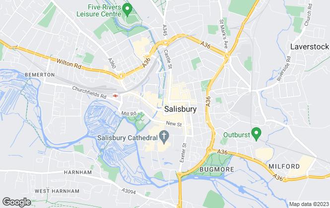Map for Jordans, Salisbury