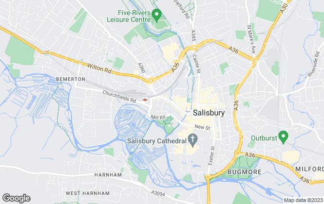 Map for eDwelling, Salisbury