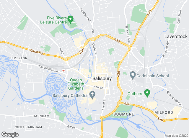 Map for Chesterton Humberts Sales, Salisbury