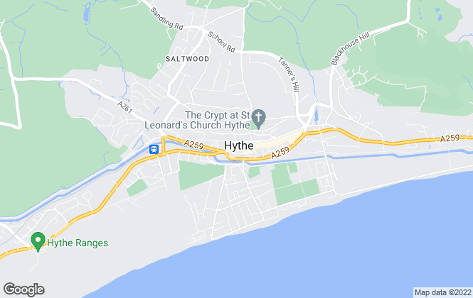Map for Wards, Hythe