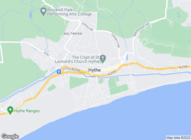 Map for C R Child & Partners, Hythe