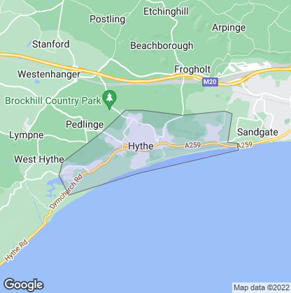 Map of property in Hythe