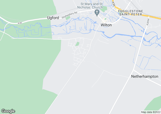 Map for Washern Close, Wilton, Salisbury, Wiltshire